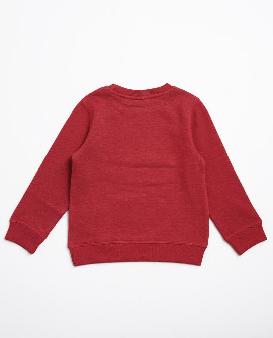 roter-sweater-mit-print