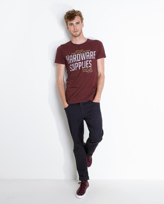 bordeaux-t-shirt-met-print