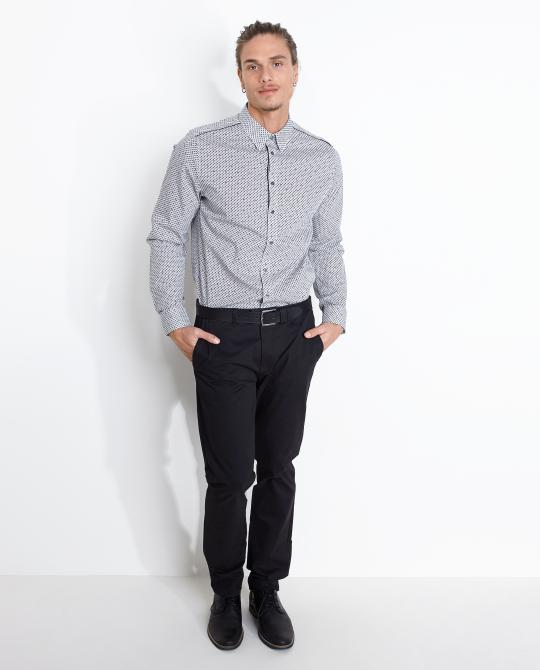 slim-fit-hemd-met-patroon