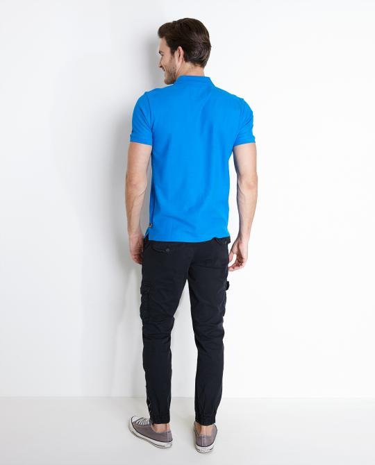 felblauwe-polo-slim-fit