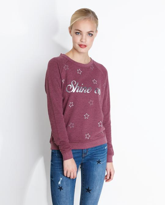 marsala-sweater-met-reflecterende-print