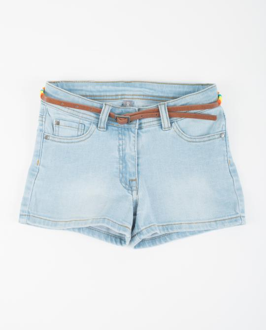 hellblaue-jeans-shorts