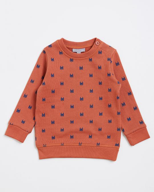 sweater-met-superheldenprint