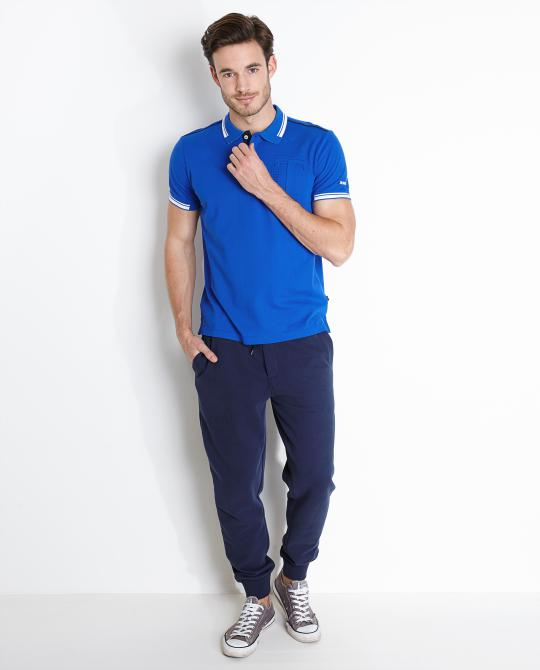felblauwe-polo-comfort-fit