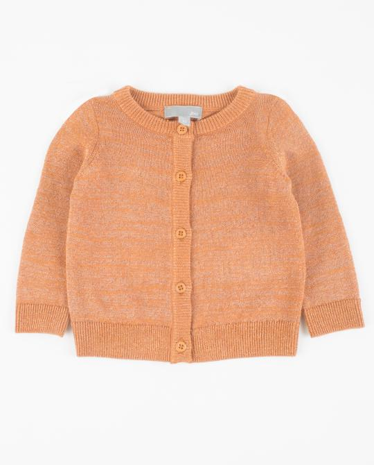 cardigan-orange-avec-un-fil-metallise
