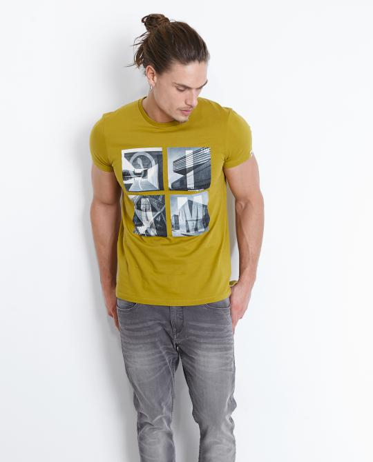 kaki-t-shirt-met-fotoprint-i-am