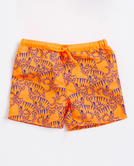 short-de-natation-orange-resistant-aux-uv