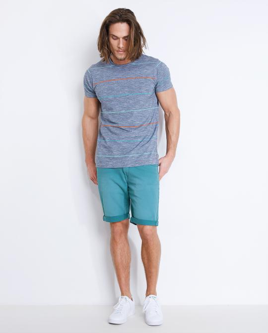 bermuda-turquoise-coupe-slim-fit
