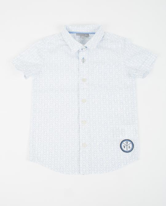 chemise-blanche-a-pois