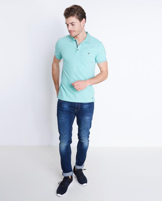 mintgroene-polo-slim-fit