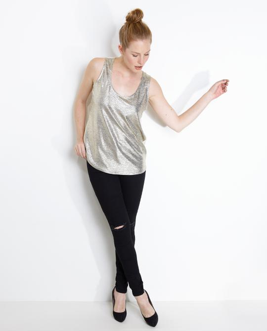 metallic-top