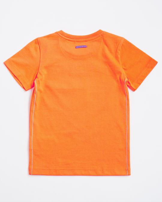 t-shirt-orange-fluo-avec-une-impression-photo