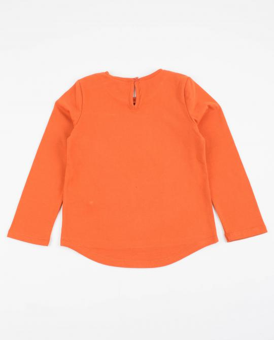t-shirt-orange-a-longues-manches-plop