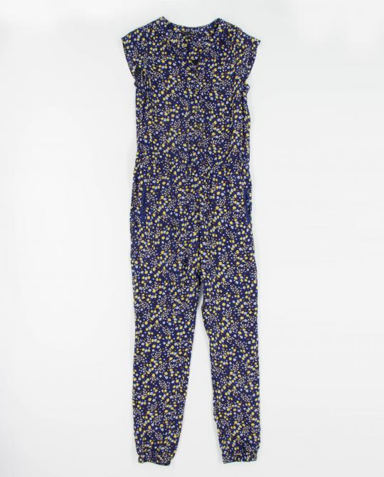 dunkelblaues-jumpsuit-blumenprint