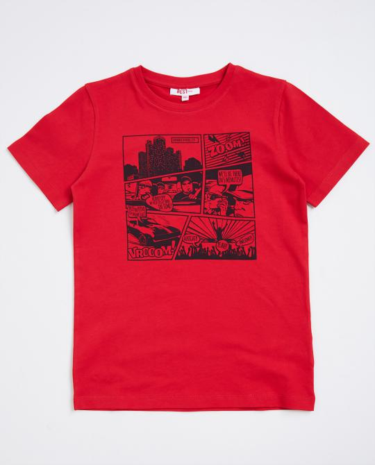 rotes-t-shirt-mit-cartoon
