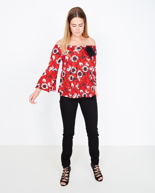 rode-off-shoulder-blouse-met-print