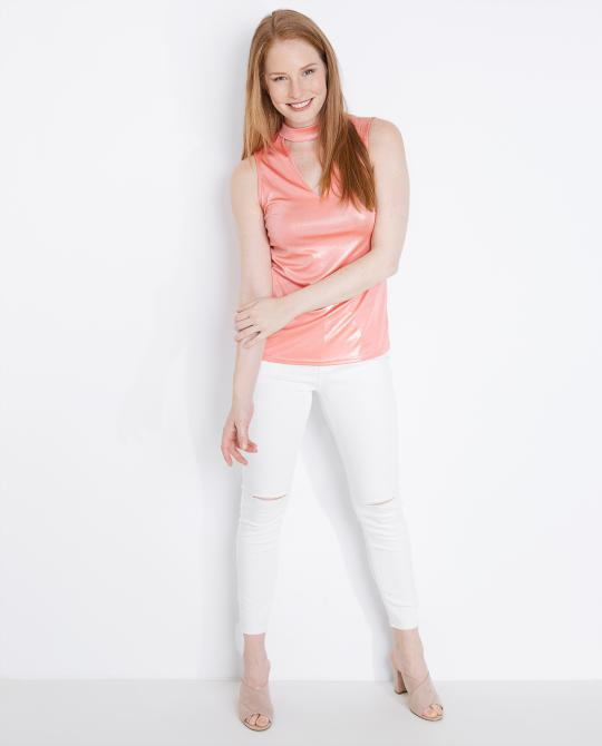top-a-paillettes-rose-corail-stretchy