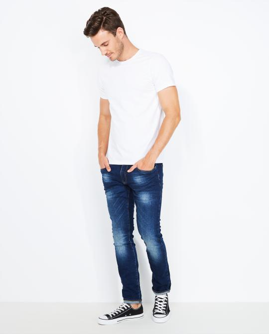 donkerblauwe-washed-slim-jeans
