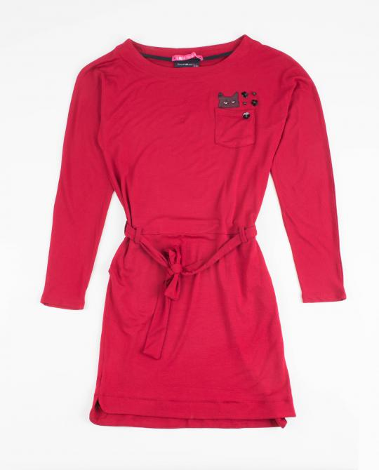 robe-rouge-fonce-en-viscose-i-am