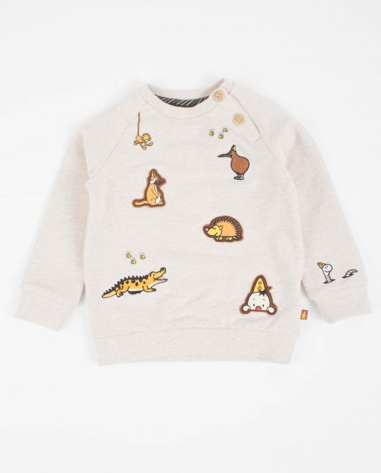 beiges-sweatshirt-mit-patches-bumba