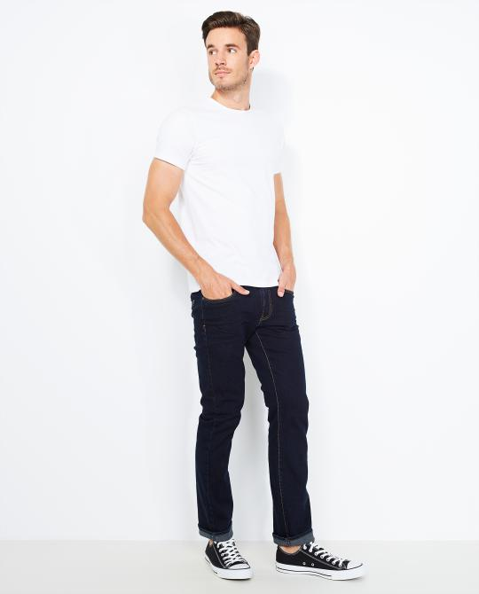 donkerblauwe-fitted-straight-jeans