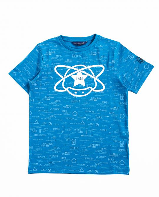blauw-t-shirt-met-gamerprint-i-am
