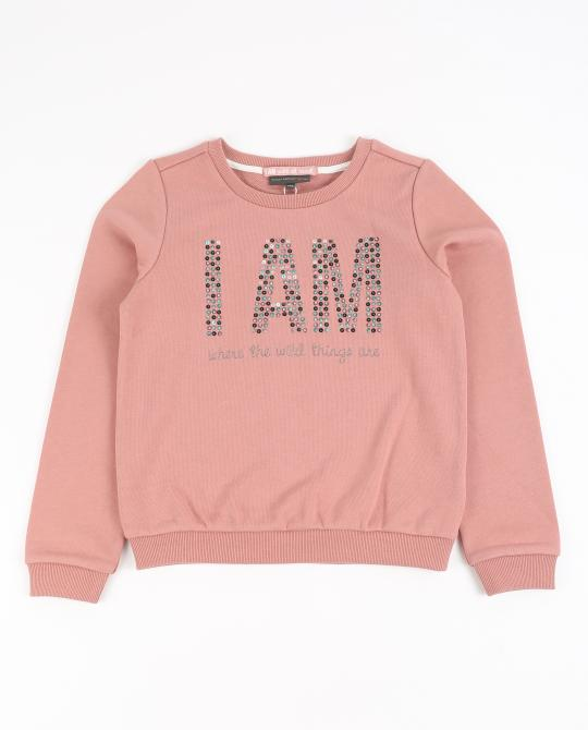 altrosa-sweater-mit-pailletten-i-am
