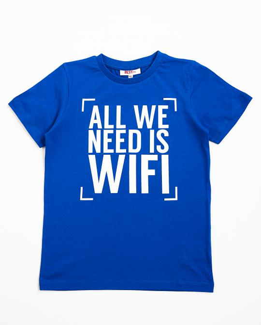 t-shirt-bleu-avec-inscription-besties