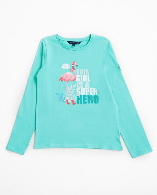 t-shirt-turquoise-a-longues-manches-i-am