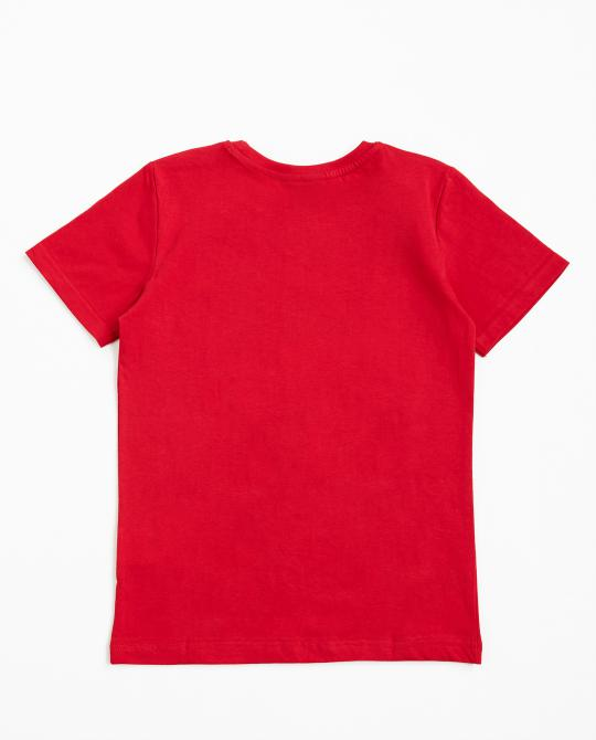 rotes-t-shirt-mit-spinner-print