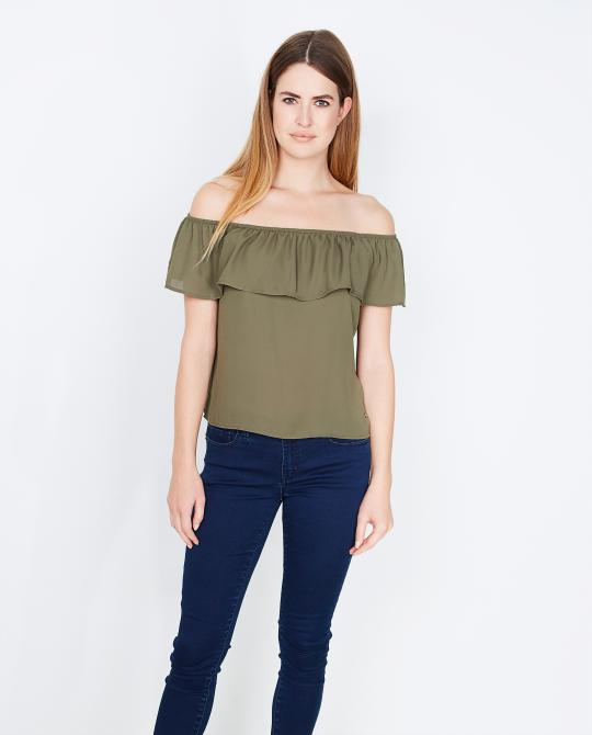 kaki-off-shoulder-top
