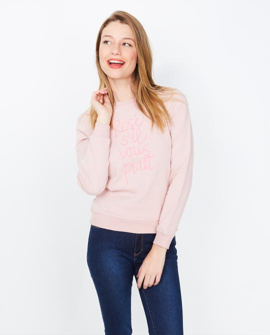 oudroze-sweater-met-opschrift